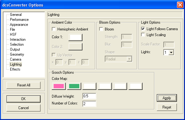 Features and Operations > DCS Converter > DCS Converter Options