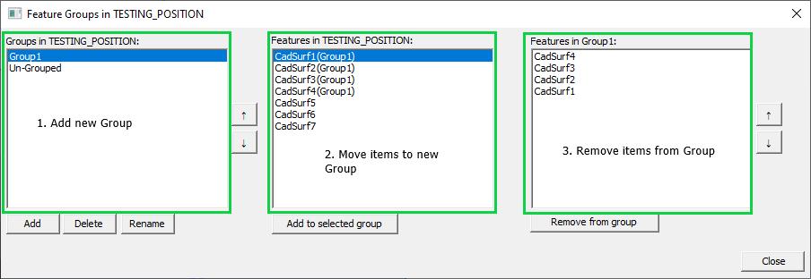 3DCS - Organize Groups