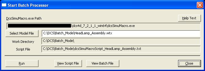 Analysis Output > Statistical Analysis > Batch Processor